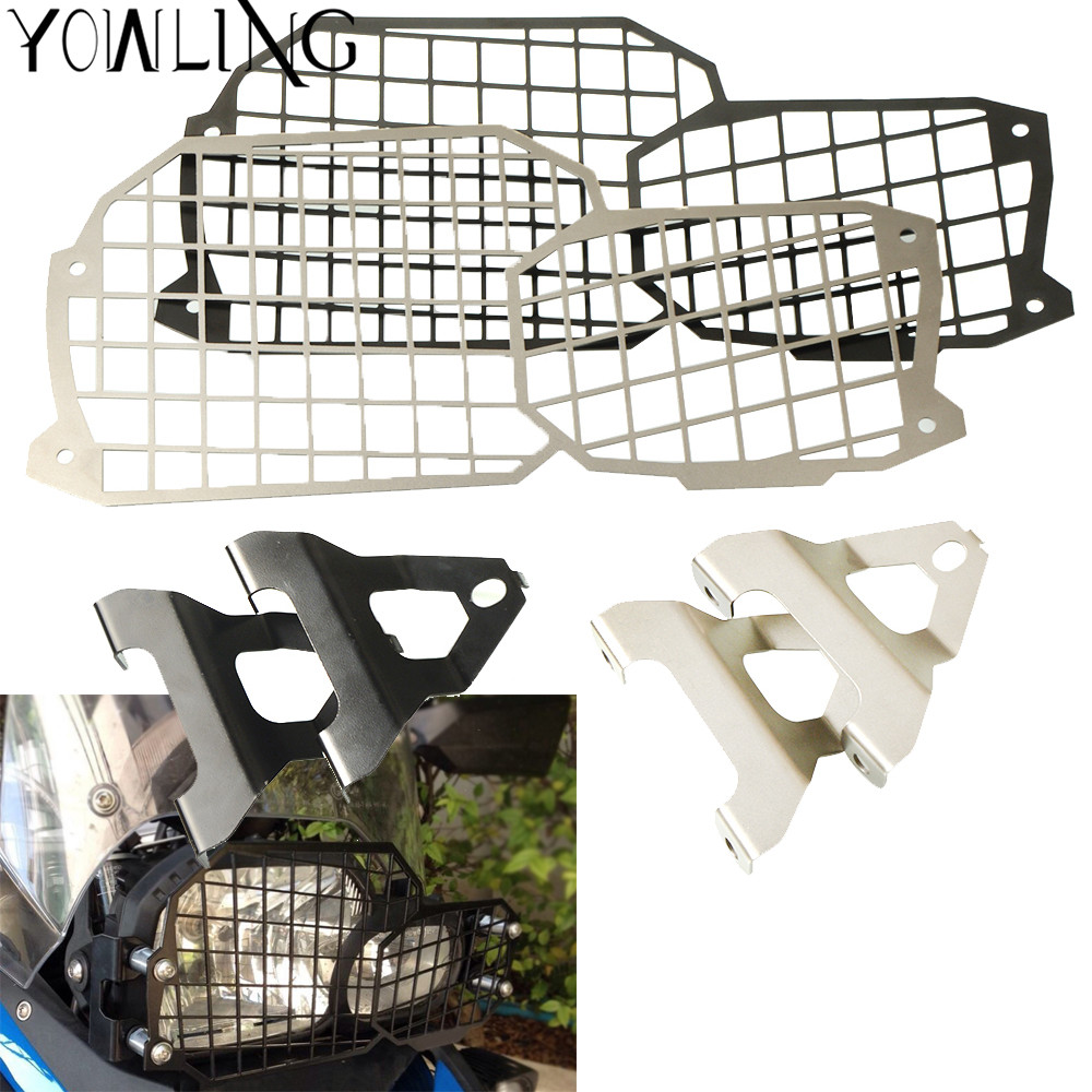 Motorcycle Accessories Headlight Bracket Grille Guard Lense Cover Protector For BMW F800GS Adventure ADV F700GS F650GS 2008-2017