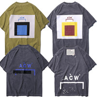 ACW T Shirt Mens Summer Tees English Fashion Hiphop Tshirt A Cold Wall T Shirt Safari Style