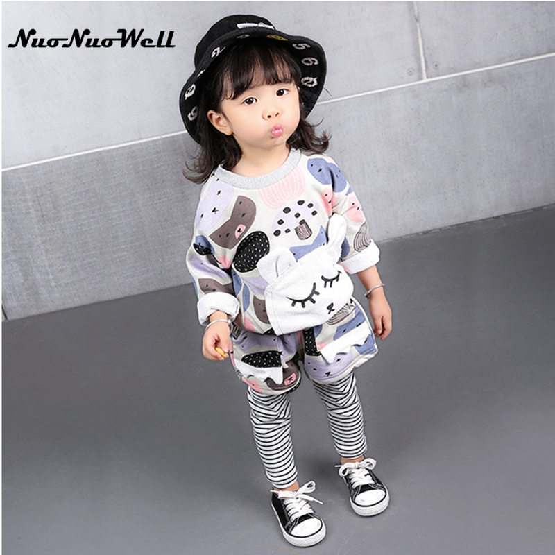 NNW Winter Baby Sets 1-6 Years Old Children Clothing Sets Kids Girls Thick Warm rabbit  T-shirt+ Pantskirt 2pcs Children Sets hello bobo girls dress collection of sports in the new year is suitable for 2 to 6 years old children s clothing