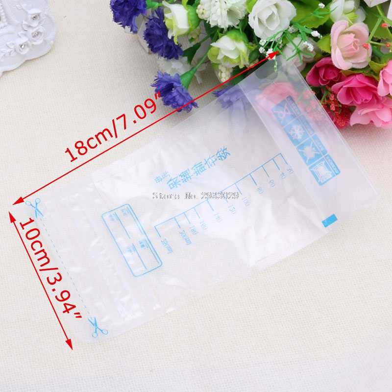 Bolsas de almacenamiento de leche materna para bebés de 250ML bolsas de aislamiento de BPA preesterilizadas-B116
