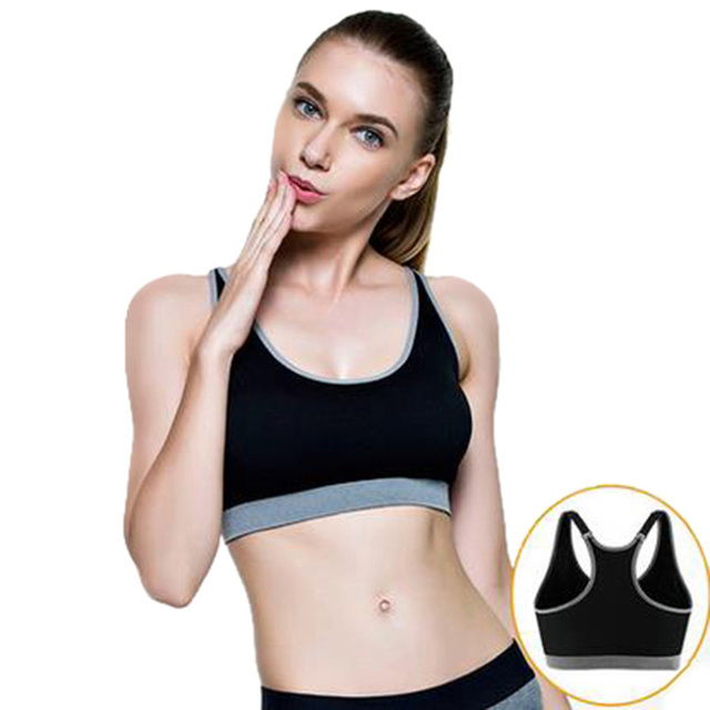 9306cd32b7 CALOFE Sexy Push Up Racerback Sports Bra Women Top Shockproof Brassiere  Sport Woman Fitness Plus Size