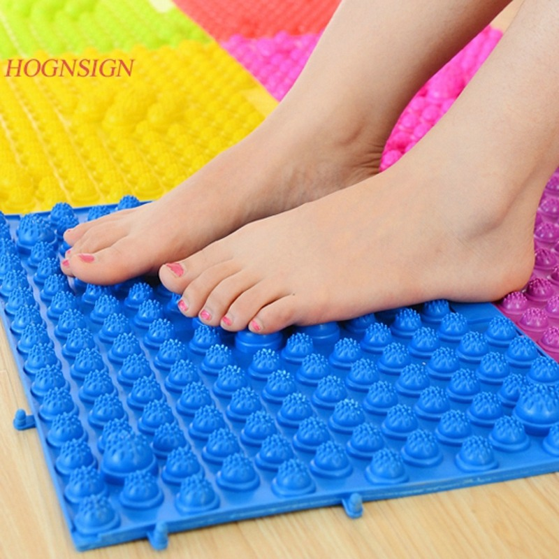 Foot Massager Health Plantar Care Cushion Super Sore Leg Massage Pad Yoga Stress Relax Refers To Clamp The Toe Pressure Plate 1pc pebble toe pressure plate foot massage pad cover shiatsu mat yoga accessory