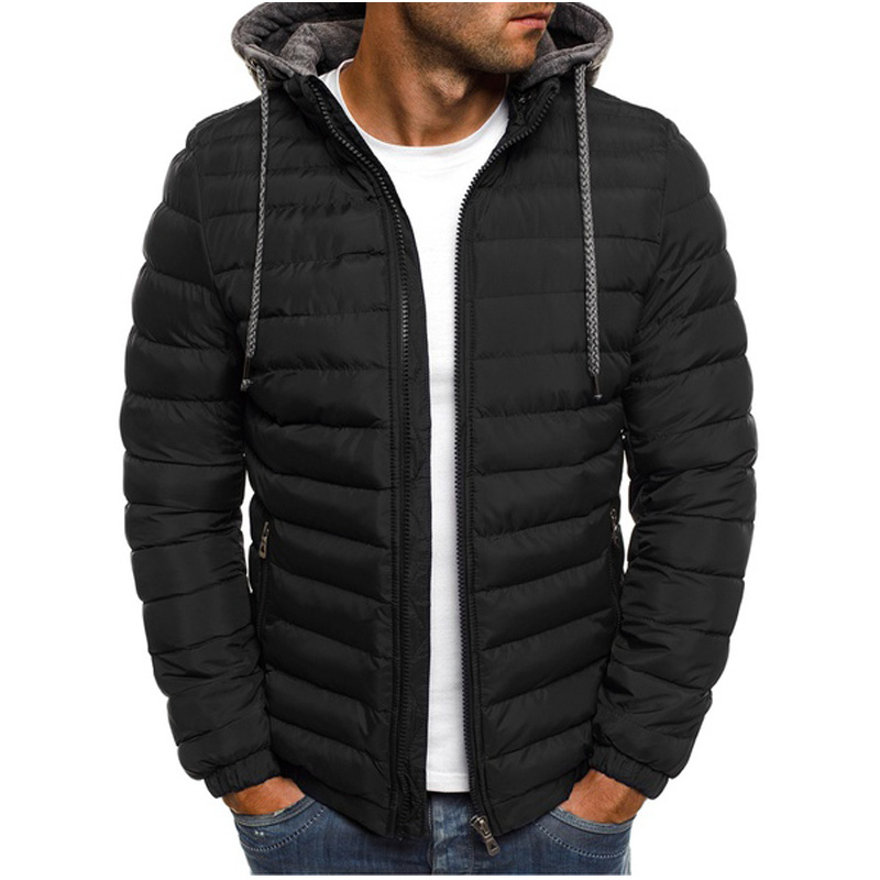 69a4e44855f Dropwow New Mens Fashion Winter Coat Men Hooded Jacket Cotton Casual mens  Jackets and Coats Warm Overcoat Streetwear Men Thick parka