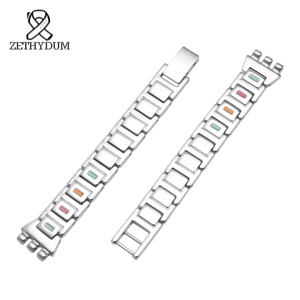 Image 3 - SWQ for womens Stainless Steel watchband 12mm small size bracelet metal swatch strap accessories