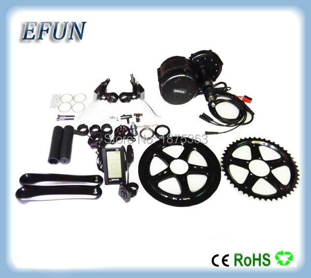 Free shipping BB 100mm 48V 500W 8fun/bafang motor C961/C965 LCD BBS02 latest controller crank Motor eletric bicycles trike kits