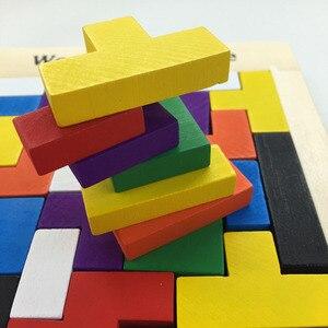 Image 4 - ปริศนาMagic Tangramเด็กเกมการศึกษาไม้Lol Hobbyเด็กจิ๊กซอว์Tetrisก้อนปริศนาของเล่นเด็กเด็กชายหญิง