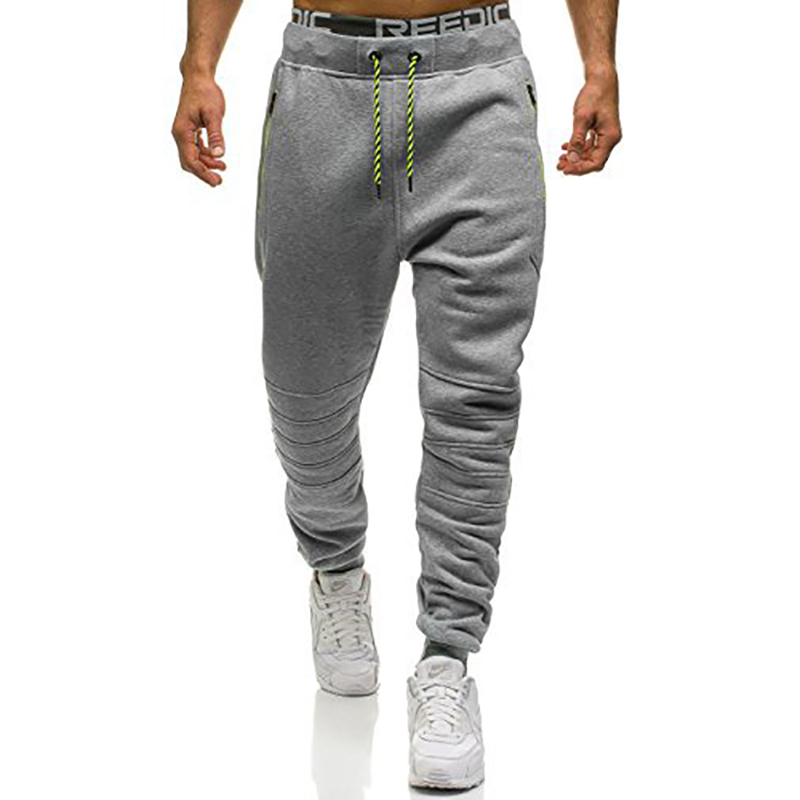 2018 Mens Patchwork Sweat Pants Men Joggers Boost Casual Cotton Pants Hip Hop Zipper Pocket Ribbon Male Fitness Trousers XXXL
