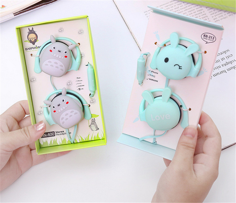 Cute In-Ear Headphones Subwoofer Mobile Game Line Control with Wheat K song Universal
