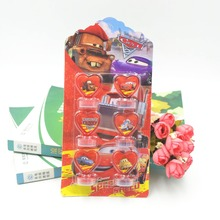 DISNEY Lightning Mcqueen 95 Car DIY Cartoon Seal Stamper Teacher Stamp Set Craft Stamps Stationery Kids Party Supplies Gifts