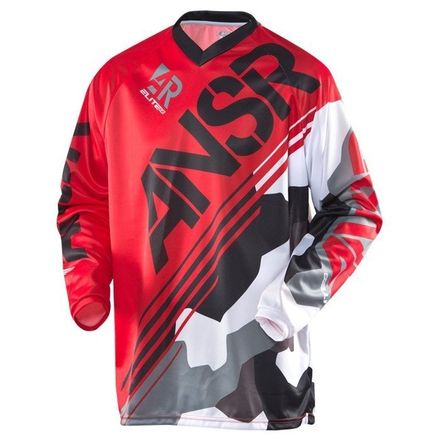 New Arrival Red Enduro Jeresy Downhill Jersey MTB Offroad long motorcycle long motocross Racing Riding Cycling Jersey long T-shi