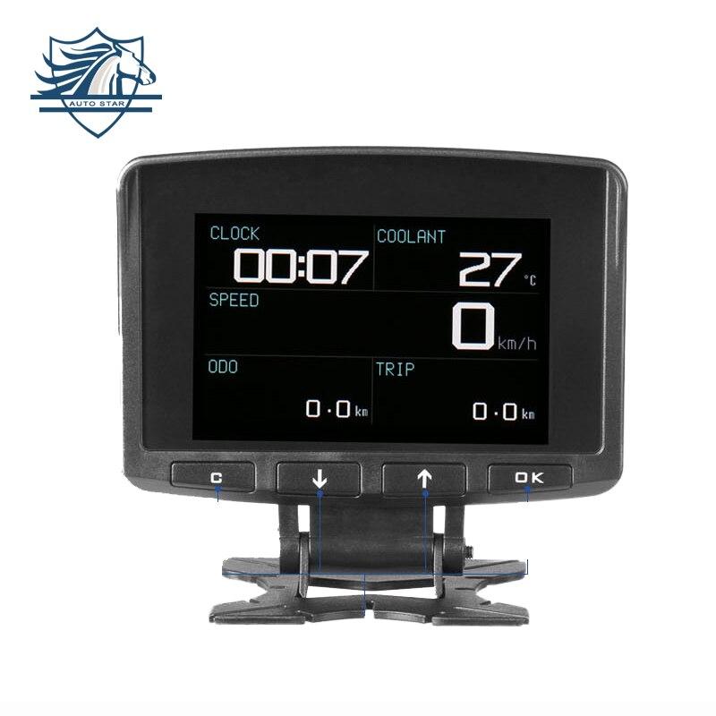 AUTOOL X50 PRO Head up Display HUD Obd2 II Ordinateur de Bord Compteur De Vitesse Turbine Tension Faute de Flux de Données en Temps Réel code Scanner