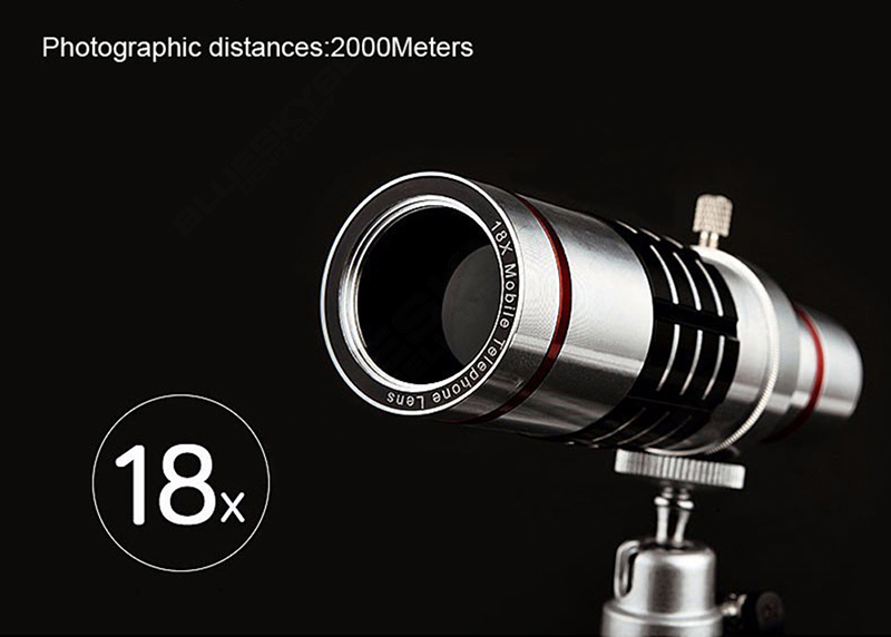 Universal 18x zoom lens Magnification Optical Camera Telephoto Lens Telescope With mini Tripod For Iphone Smartphone Silver 4