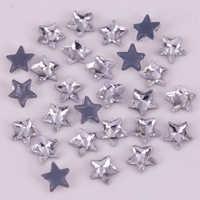 Lead Free! High Quality 5mm, 7mm Star Crystal Clear Flat Back Hotfix Rhinestones / Iron On Flat Back Crystals