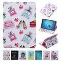 Luxury PU Leather Painting Case For Samsung Galaxy Tab S2 9.7 T815 T810 Slim Tablet Smart Book Stand Cover with Card Holder