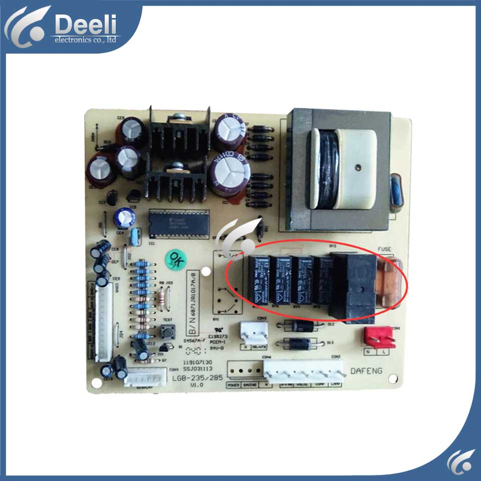 used for Refrigerator Power Supply Board LGB-235/285 6871JR1017A/B good working good working original used for power supply board yp42lpbl eay60803402 eay60803202
