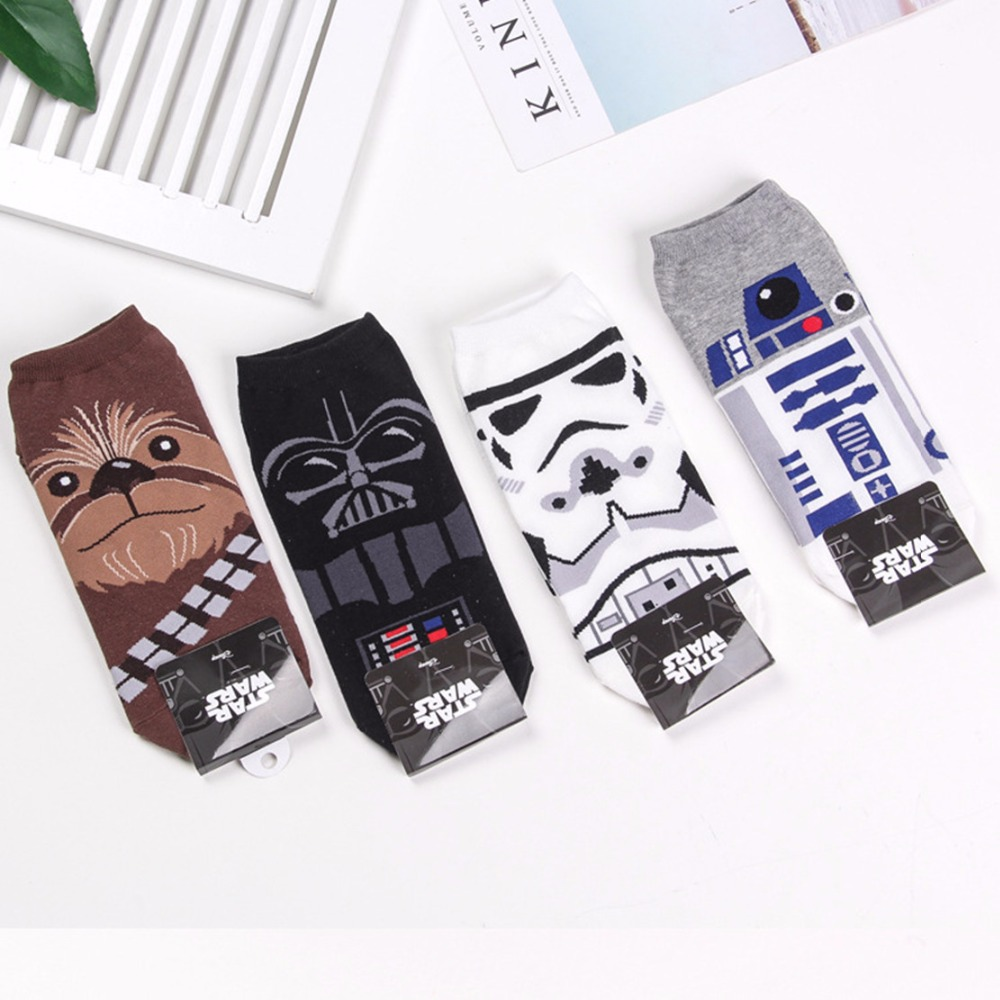 Star Wars Wookiees Chewbacca   socks   black knight funny novelty men   sock   spring summer comfort sweat absorbent cotton ankle   socks