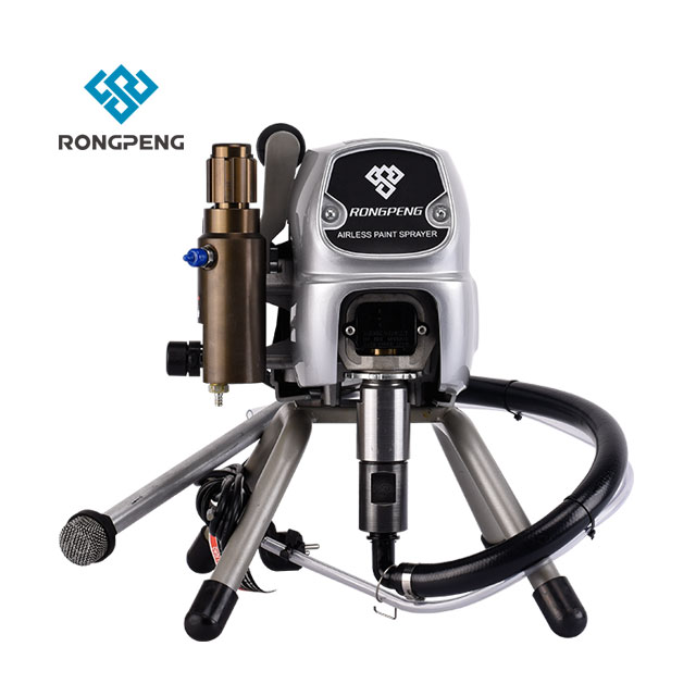 US $600 0  Rongpeng Professional Electrical Airless Pump Paint Sprayer  Machine R470 Brush DC Motor 900W 1 8L/Min Flow Rate-in Spray Guns from  Tools on