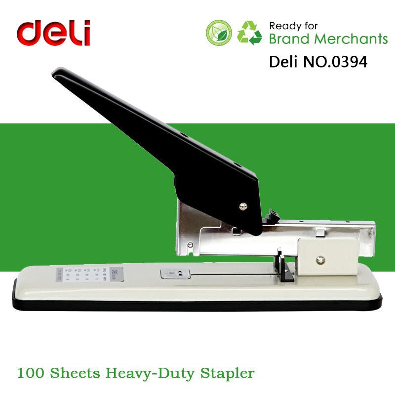 Deli No 0394 100 Pages Heavy Duty Stapler Large Thickening Type Staplers For Office Staples 23 6 26 13 In From School Supplies On