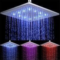 25cm * 25cm Square Brass Ultra thin Showerheads 10 inch Rainfall Shower Head Rain shower