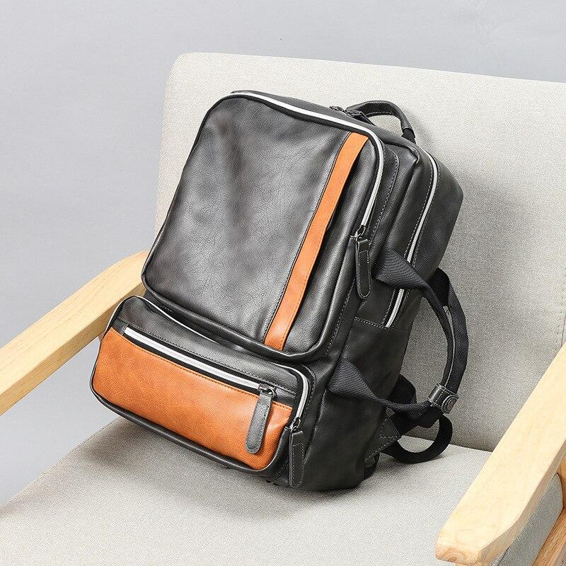 Sac à dos homme BILLETERA sacoche pour ordinateur portable grande capacité pour homme Vintage sacs à dos de voyage homme - 4