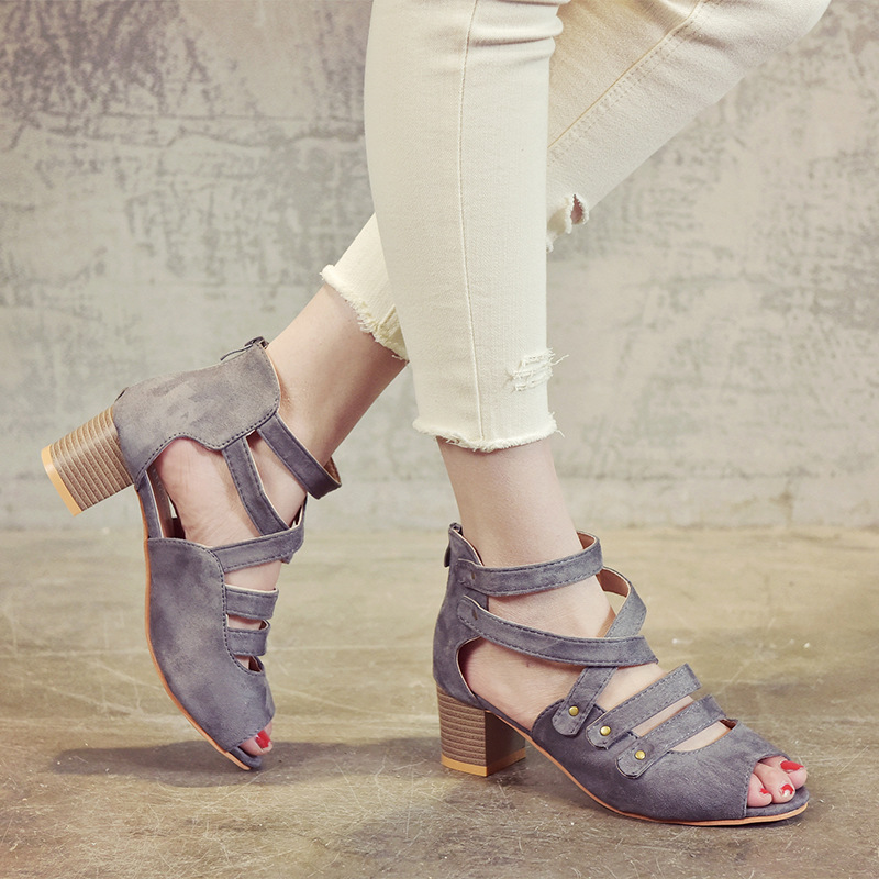 High Heel Women Sandals Sexy Peep Toe Women Pumps Hollow Roman Sandals Block Heels Ladies Shoes Summer Women Shoes Scarpe DonnaHigh Heel Women Sandals Sexy Peep Toe Women Pumps Hollow Roman Sandals Block Heels Ladies Shoes Summer Women Shoes Scarpe Donna