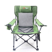 Outdoor camping Camo chairs picnic stainless steel folding moon chair garden, beach chair for fishing, travel and leisure