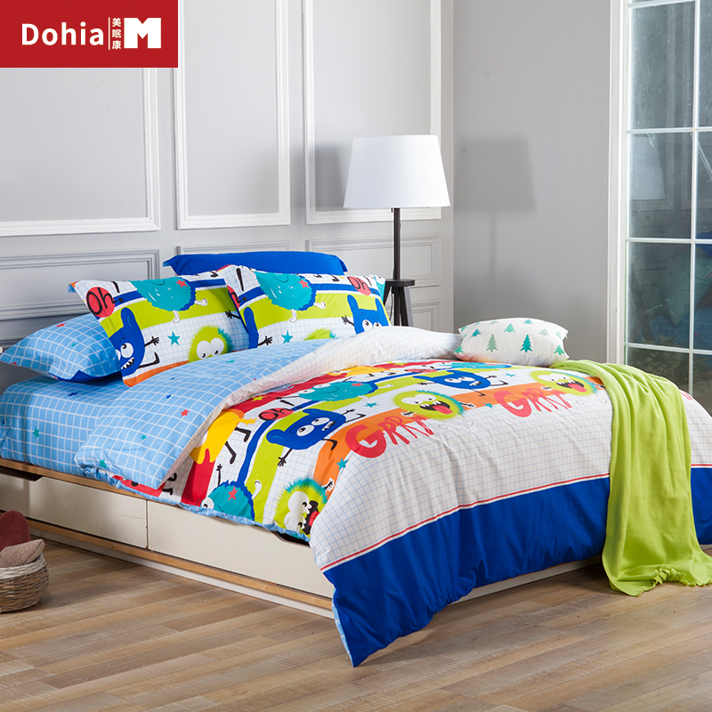 Dohiammk Children Bedding Sheet Set Cartoon 100%Cotton Sheets High Quality Eco  Friendly Odorless Bedding Sets 4 PCS In Bedding Sets From Home U0026 Garden On  ...
