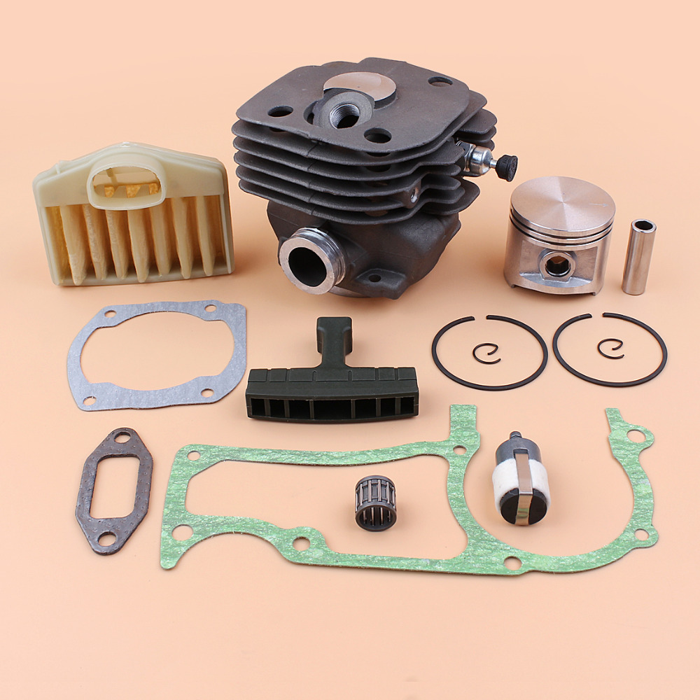 NIKASIL 50mm Cylinder Piston Air Filter Decommpression Valve Kit For HUSQVARNA 365 371 372 362 Chainsaw Motor Engine Parts цена