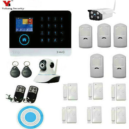 YoBang Security WIFI Burglar Alarm Video IP Camera Wireless GSM House Security System Outdoor Indoor IP Camera Wireless Alarm yobangsecurity wifi burglar alarm video ip camera wireless gsm house security safety system outdoor ip camera wireless siren