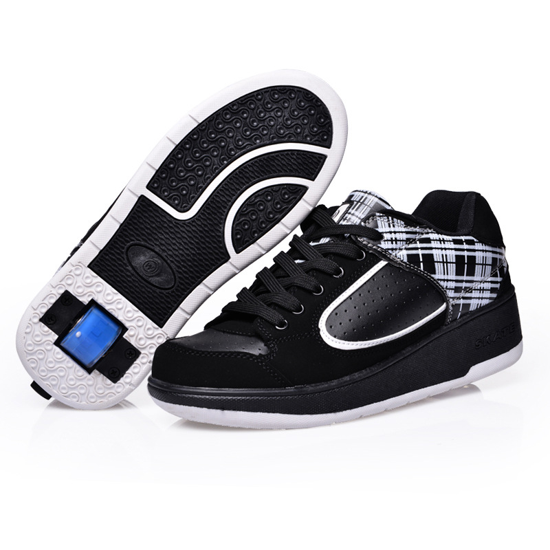 2017 Autumn Kids Shoes Sneakers for Children Breathable Roller Wheels Boy Gill Sneakers with One Wheels Girl Men  Wheelys Shoes children roller sneaker with one wheel led lighted flashing roller skates kids boy girl shoes zapatillas con ruedas