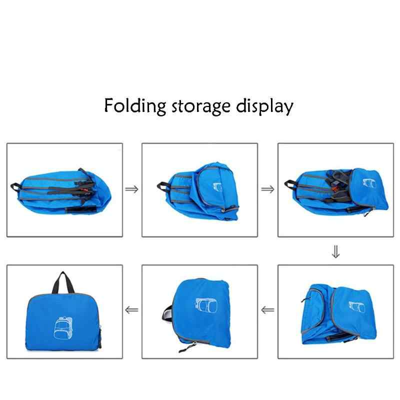 ... 30L Outdoor Folding Backpack Lightweight Splashproof Rucksack Portable  Zipper Travel Bags Waterproof Leisure Folding Bag e510a057cf