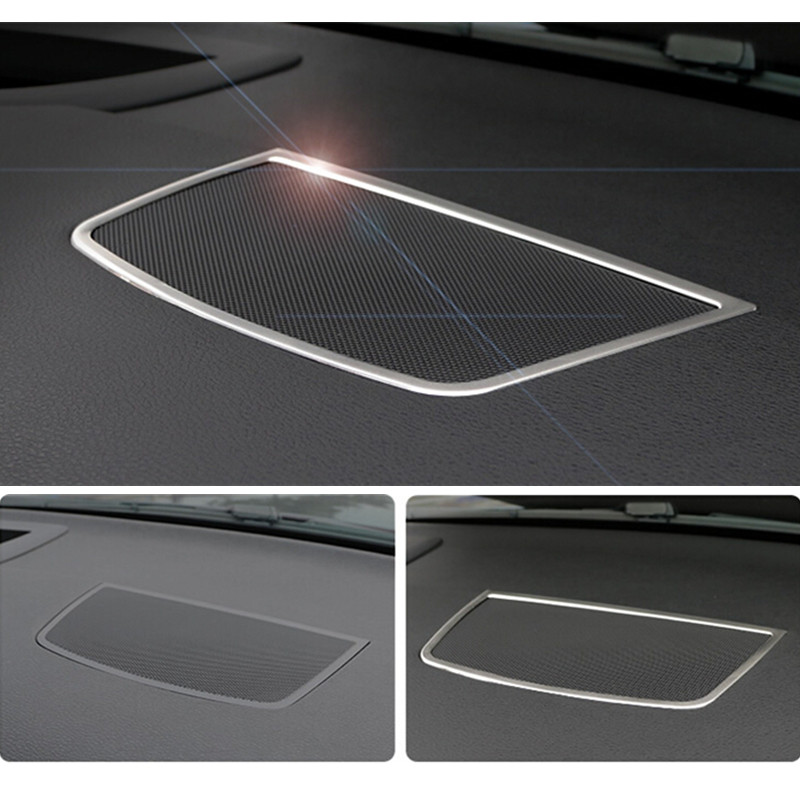 Stainless Steel horn ring frame cover trim for BMW X5 E70 X6 E71 2009 13 font