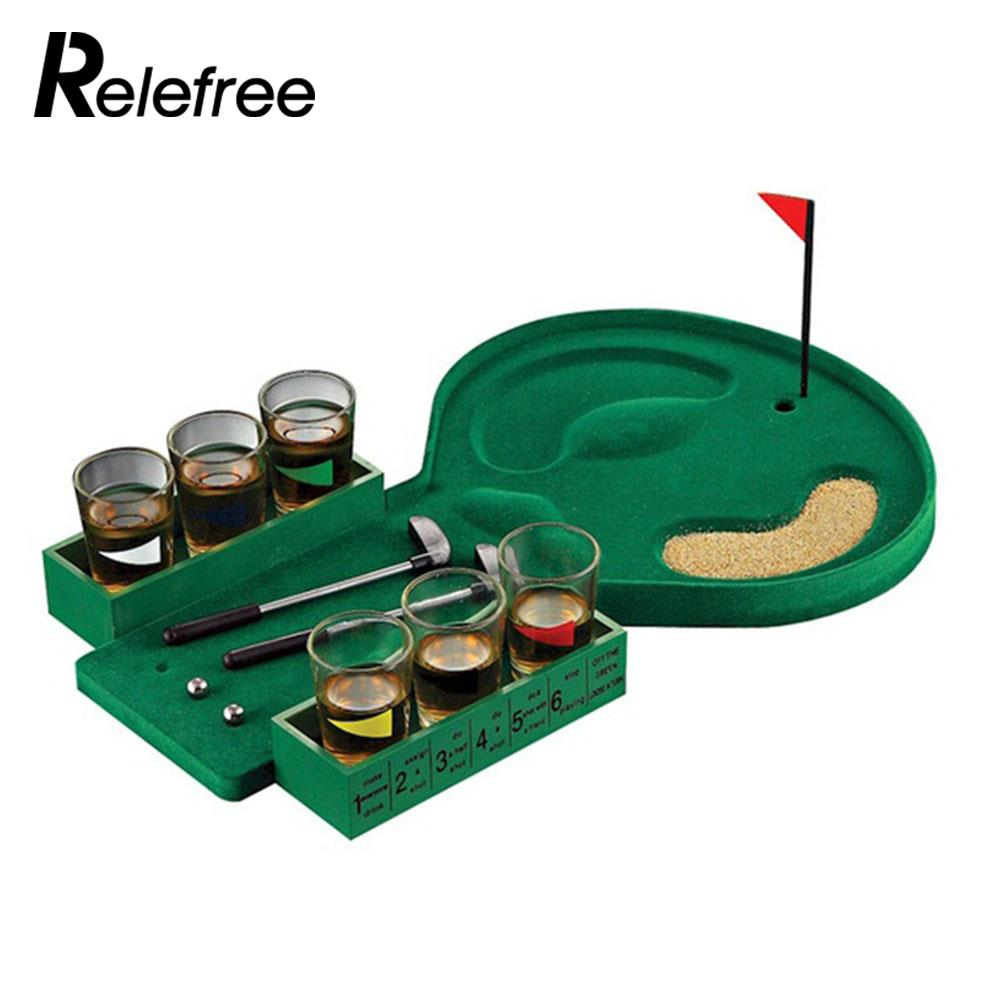 цена Glasses Bar Wine Game Enjoyment Golf Drinking Game Durable Family Golf Table Game Desktop Party