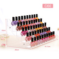 Large Display Stand Removable Acrylic Clear Nail Polish Cosmetic Varnish Holder Women Makeup Organizer Case