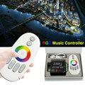 DC12V-24V Музыка 2 Led RGB РФ Пульт Дистанционного Музыка Контроллер 20 м Эффективный Контроль Макс 18A Интеллектуальные Sonic Аудио Контроллер WAC34
