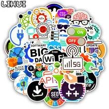 50 PCS Linguaggio di Programmazione Adesivi Internet Html Software Autoadesivo Impermeabile per Geek Hacker Sviluppatore per FAI DA TE Del Computer Portatile Dellautomobile Del Telefono