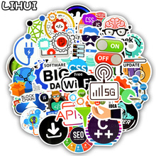 50 PCS Programming Language Stickers Internet Html