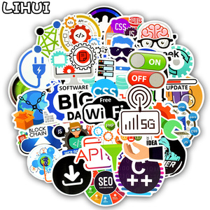 Image 1 - 50 PCS Programming Language Stickers Internet Html Software Waterproof Sticker for Geek Hacker Developer to DIY Laptop Phone Car