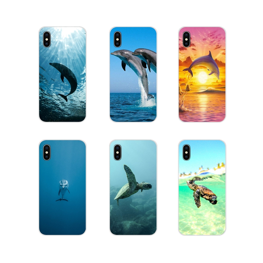 For Huawei Nova 2 3 2i 3i Y6 Y7 Y9 Prime Pro GR3 GR5 2017 2018 2019 Y5II Y6II Turtles And Dolphins Accessories Phone Shell Cover