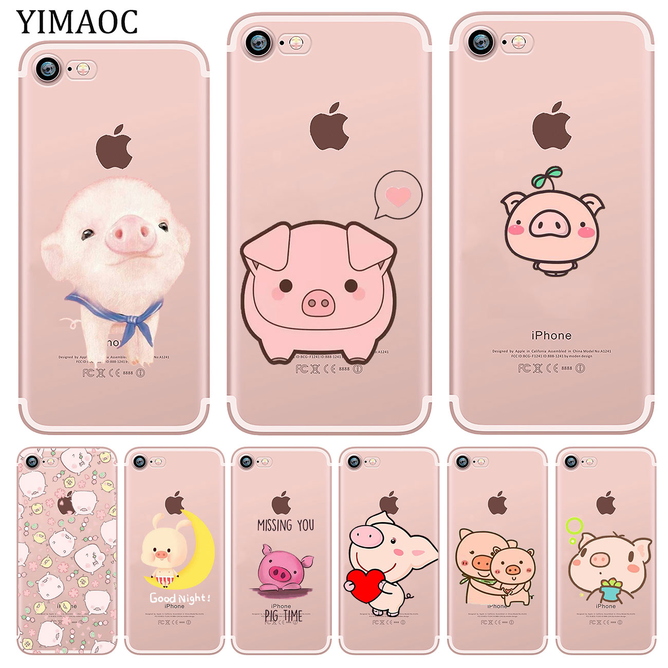 2d9f584ac4 YIMAOC-Piggy-cute-pig-Lovely-Soft-Silicone-Phone-Shell-Case-for-iPhone-X-XS- Max-XR.jpg