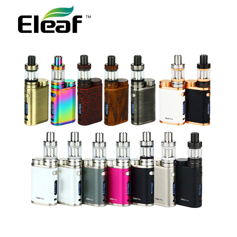 100% Original Eleaf iStick Pico TC Starter Kit 75W Pico with 2ml E-liquid Capacity Mini Atomier vs 75W Temp Control Mod E-cig сменная панель для eleaf istick 100w tc черная