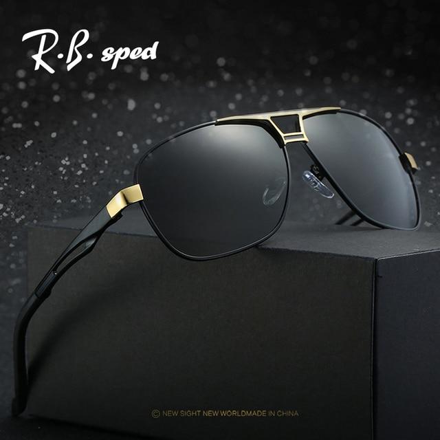 572973adeb97b Lunettes de soleil pour hommes polarisées de marque de luxe lunettes de  soleil en alliage lunettes