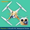 2016 PVC Stickers Phantom Aircraft Waterproof Stickers Skin Decals Paster Easy to Paste and Tear off for DJI Phantom 4/PRO