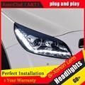 Стайлинга автомобилей Для Chevrolet Malibu фары 2012-2014 Для Малибу свет бар DRL Q5 bi xenon объектив h7 xenon U angel eyes DRL