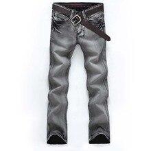 2017 мужская Authentics Classic Relaxed Fit Жан Супер Удобные Узкие Мото Hip Hop Прочная Джинсовая Ripped Мужчины Загрузки Вырезать джинсы