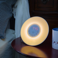 New Digital Luminous Alarm Clock Colored Sunrise Wake Up Light Lamp Nature Night Light With Sounds FM Radio Clocks BS