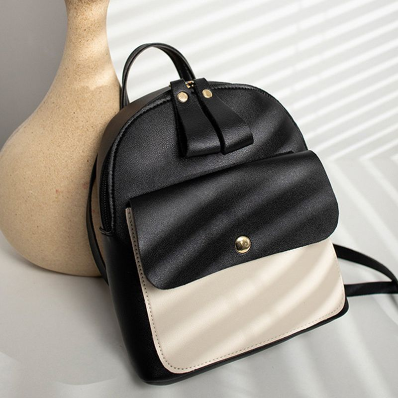Women Girls School Bag PU Leather Backpack Mini Rucksack Purse Travel Shoulder bags in Backpacks from Luggage Bags