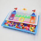 300/600 Pcs Mushroom Nails Peg Puzzles Intelligence Booster Kids Children Creativity Development 3D Mosaic Pegboard Educational
