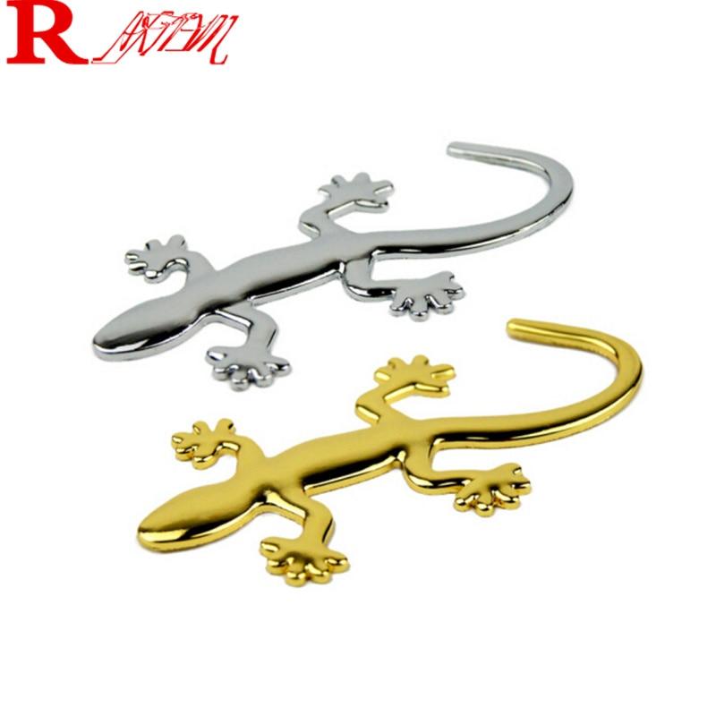 car styling 3D Metal Gecko Lizard Stickers For Nissan Tiida Teana Skyline Juke X-trail Almera Qashqai Livina Sunny March Murano