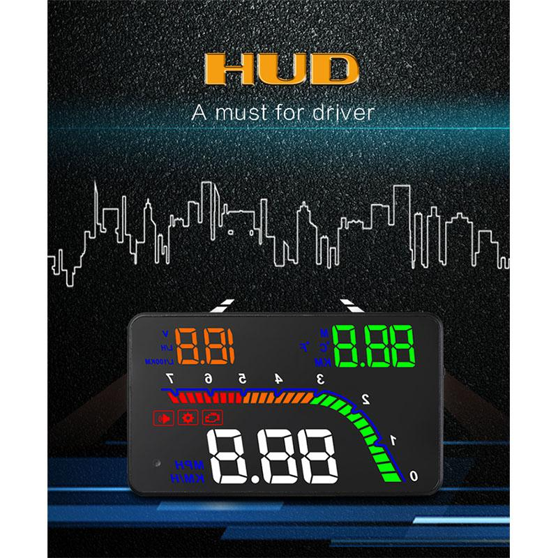 Adeeing T100 HUD Head Up Display Multi Color Car Speedometer Digital Reflective ProjectorHigh quality HUD Head Up Display r30